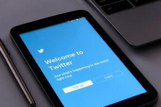 La page d'accueil de Twitter