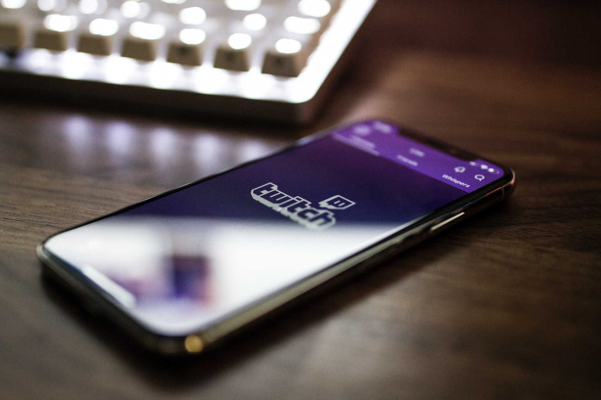 Twitch sur un iPhone