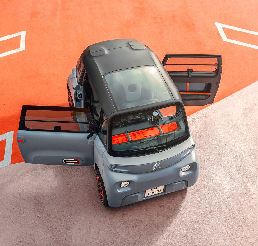 La Citroën AMI est équipée d'un habitacle fermé et chauffé