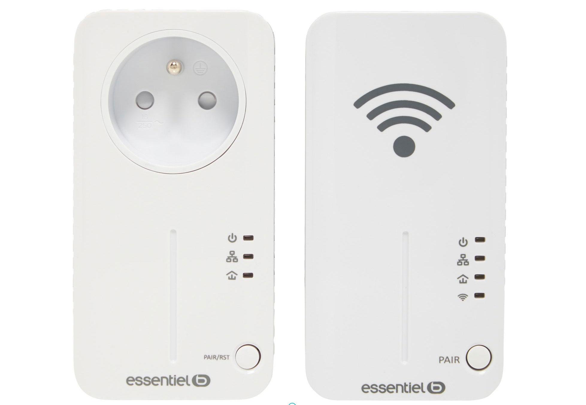 Les boîtiers CPL Essentielb WiFi 500+ Duo