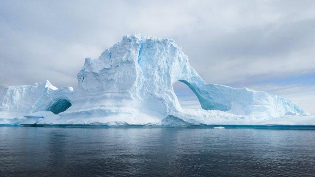 Une photo des iceberg de l'Antarctique
