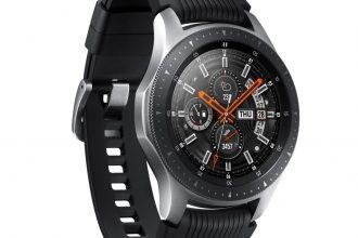 La Galaxy Watch en version grise acier