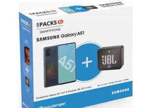 Boulanger propose une belle réduction sur un pack regroupant un Galaxy A51 et une enceinte