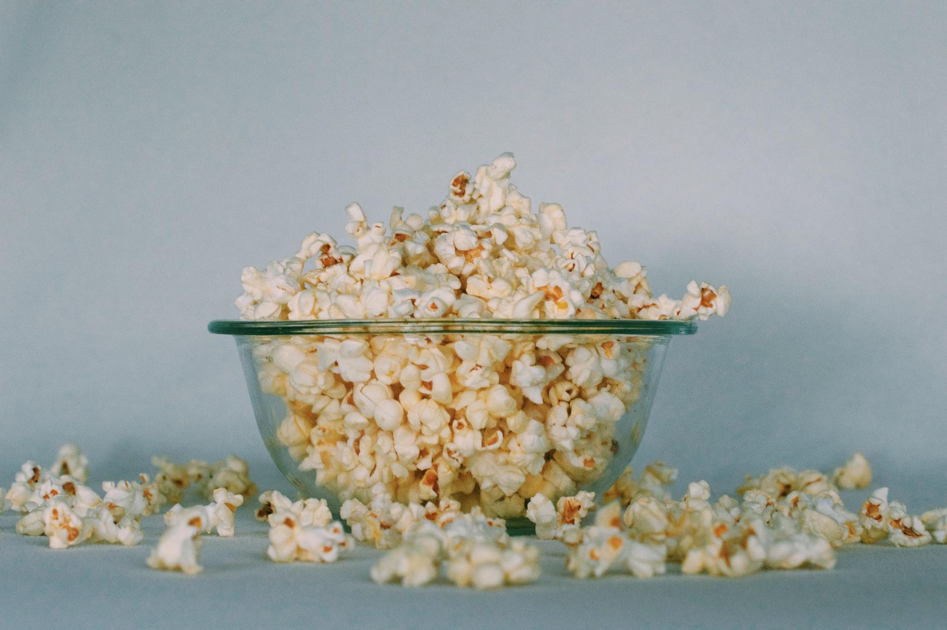 Un bol de popcorn