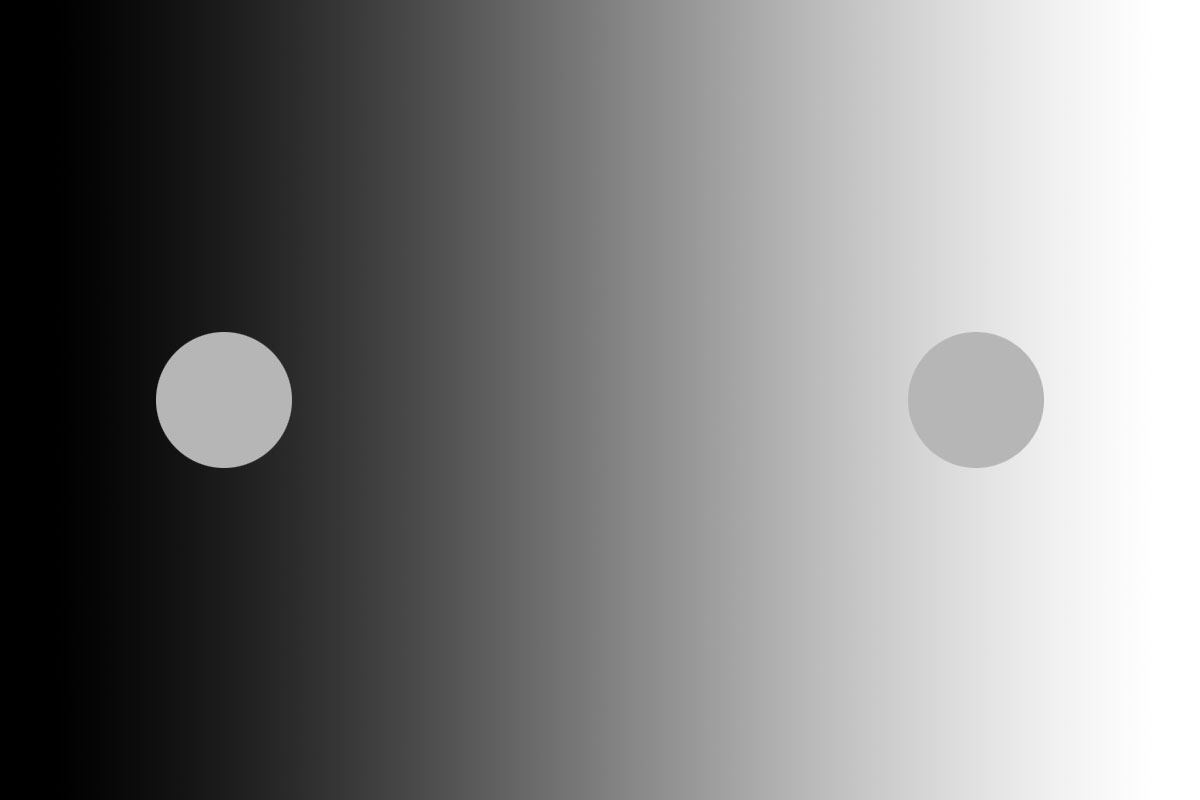 Ces deux points sont en réalité de la même couleur
