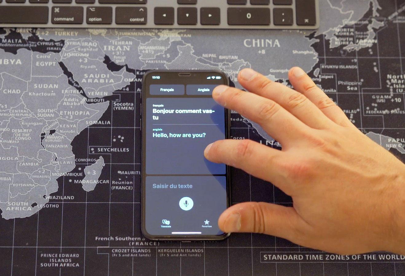 L'application Traduire, une nouveauté d'iOS 14 Bêta 1