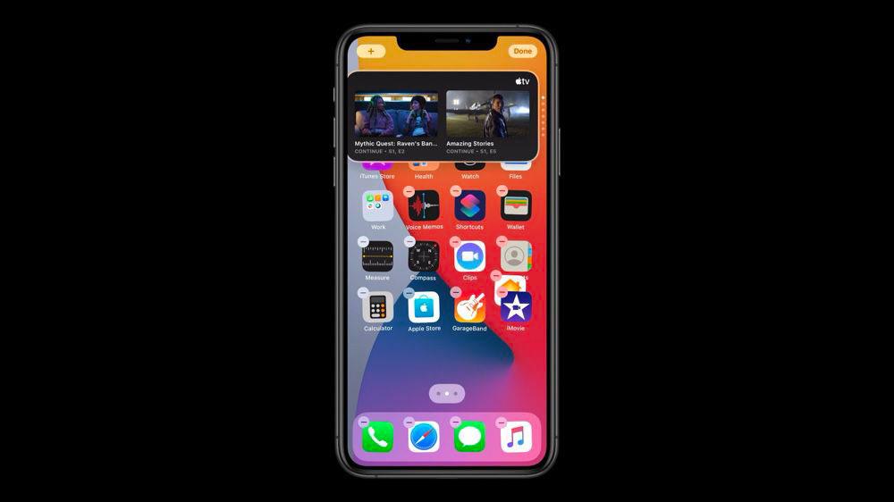 Les widgets vont prendre du galon dans iOS 14