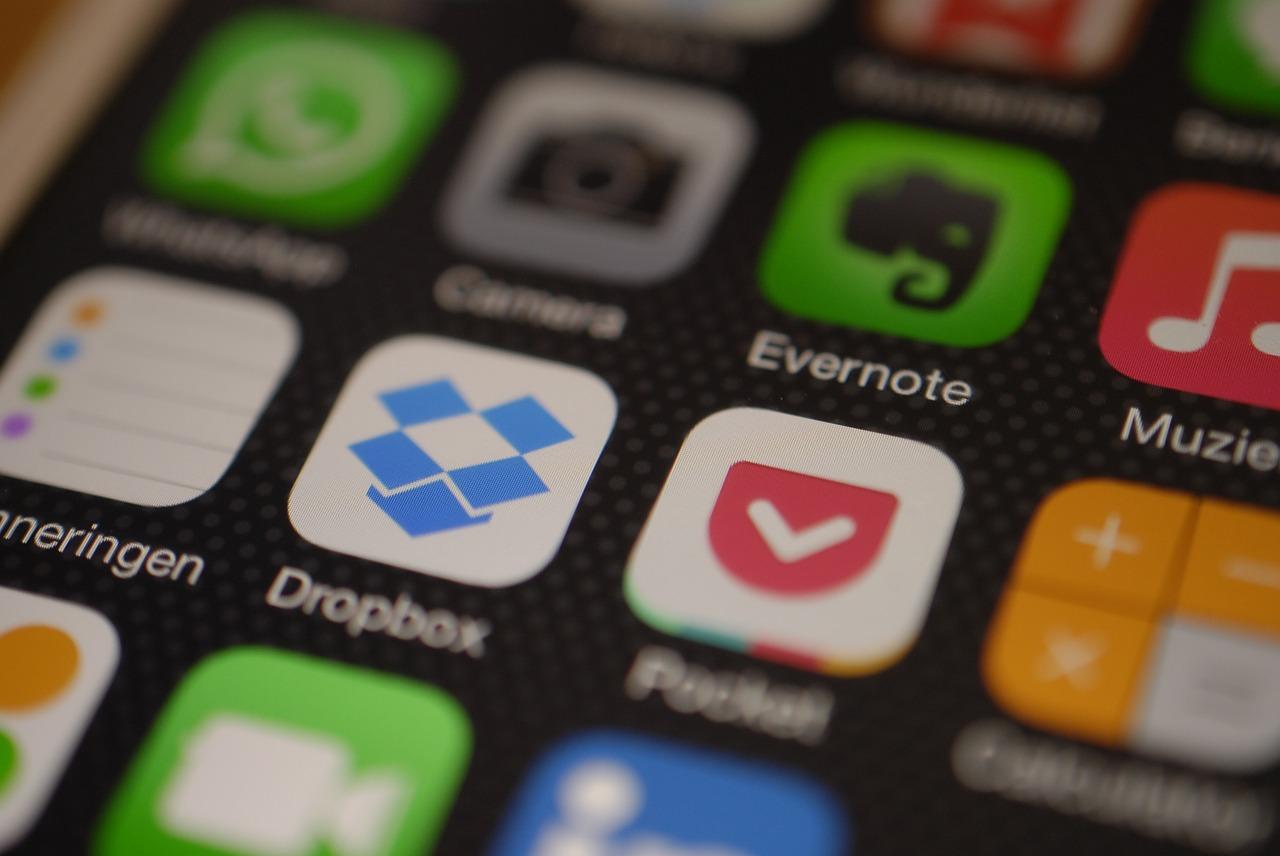 L'icône de l'application Dropbox