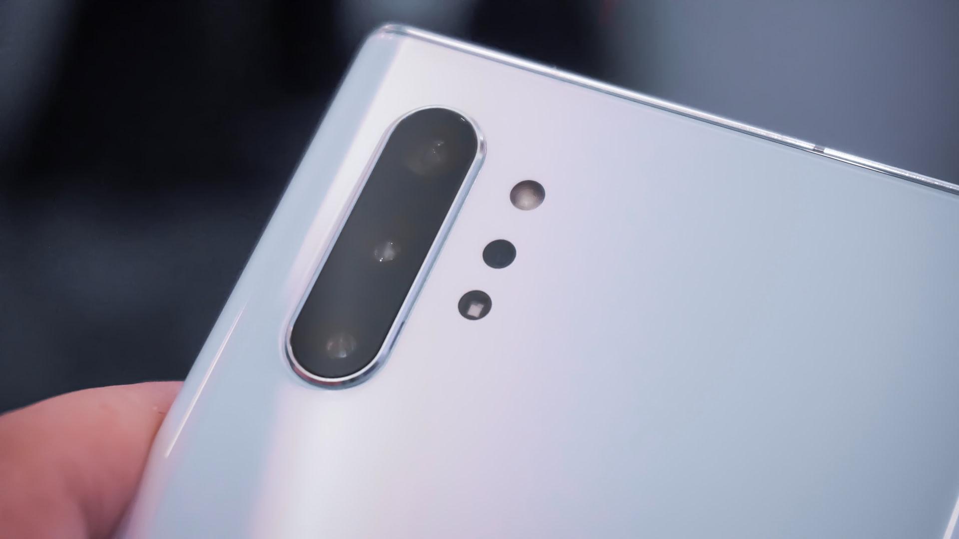Le capteur photo d'un Galaxy Note 10