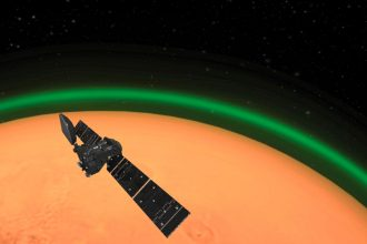 L'atmosphère martienne peut aussi devenir verte