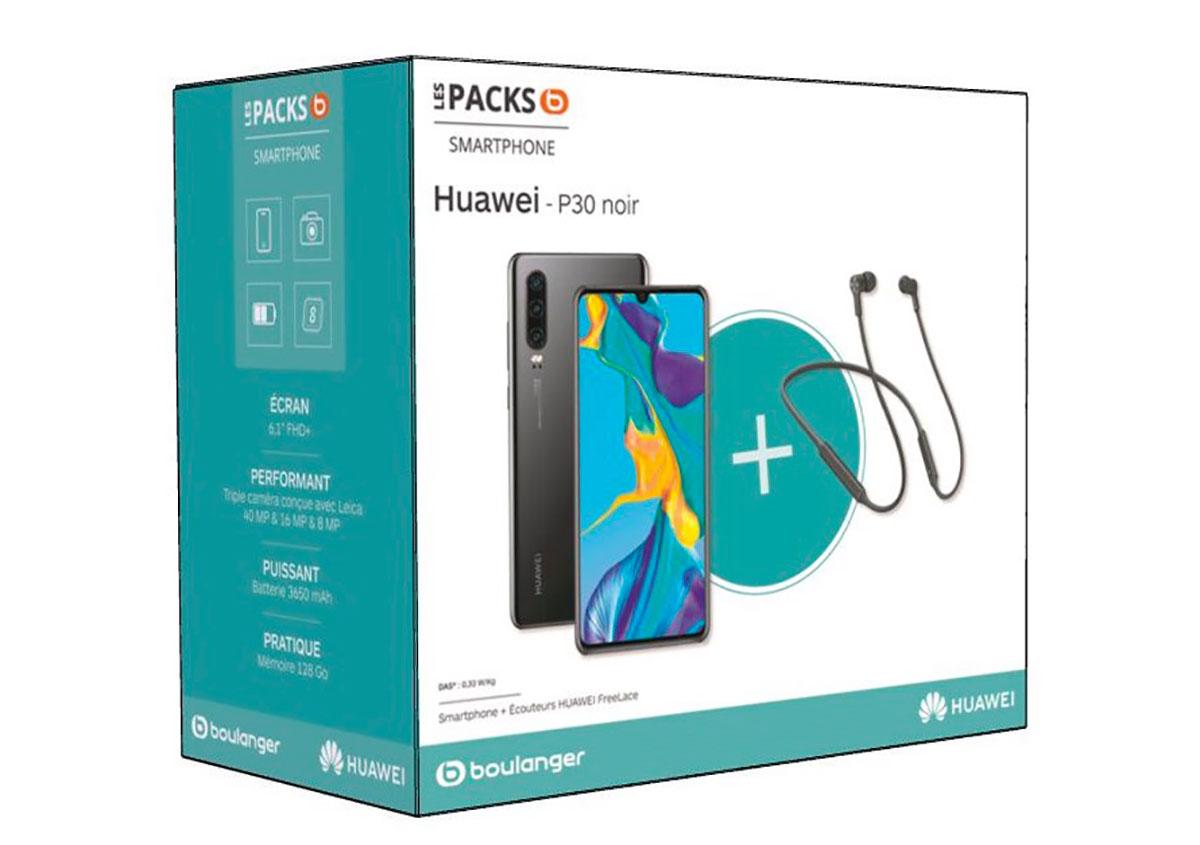 Le pack Huawei P30 est en promo chez Boulanger