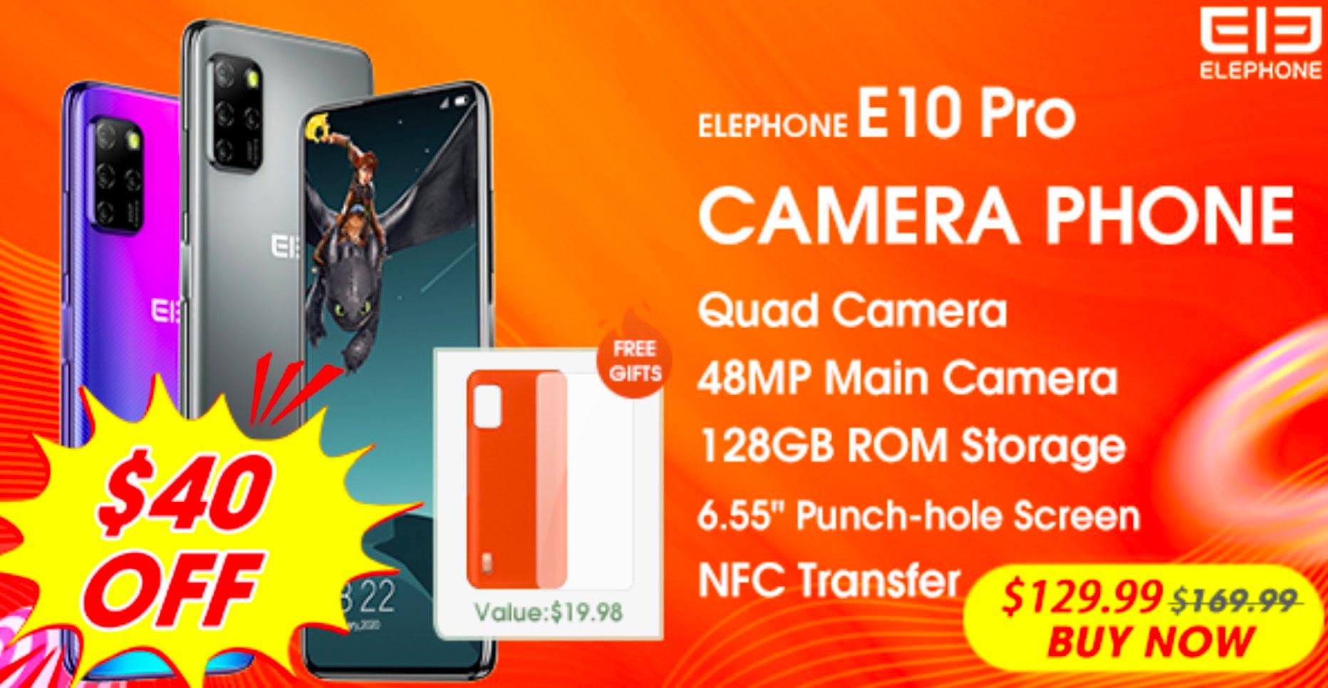 L'Elephone E10 Pro est en promo