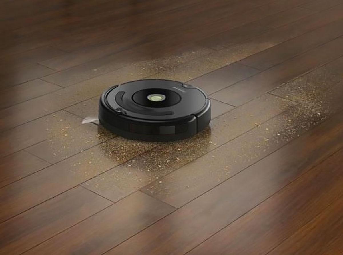 L'Irobot Roomba 676 en pleine action