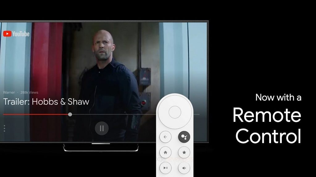 La télécommande qui devrait accompagner le nouveau Chromecast de Google