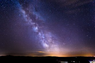 Une photo de la Voie lactée, prise depuis la Terre