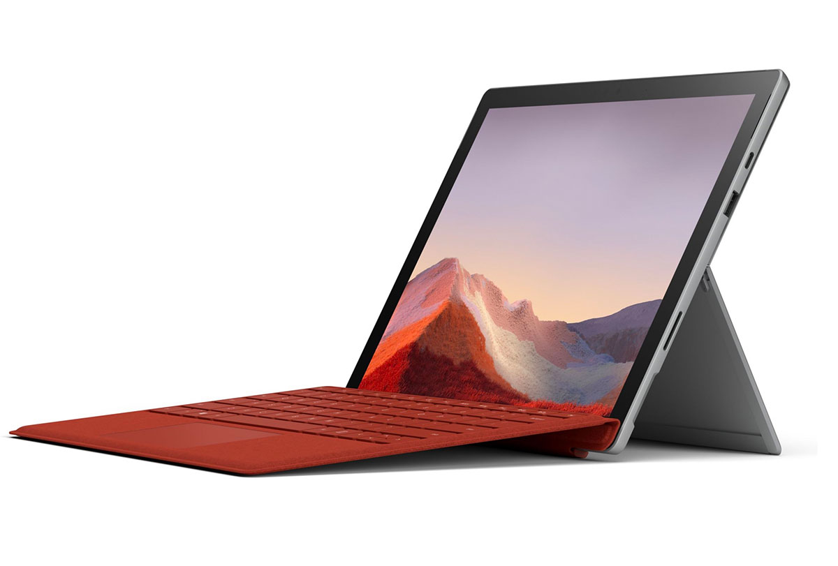 La Surface Pro 7, qui n'est ici pas vendue avec son clavier