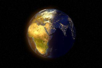 La Terre dans l'espace