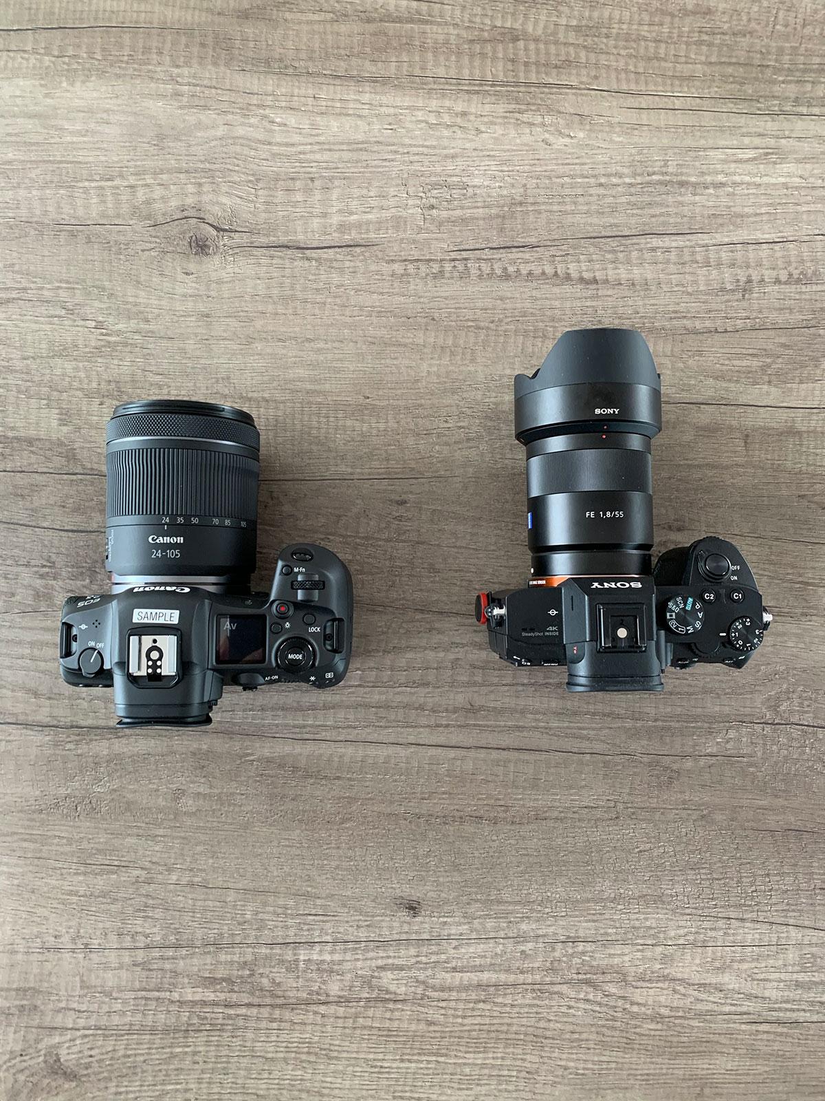 Le Canon EOS R5 comparé à un A7 III