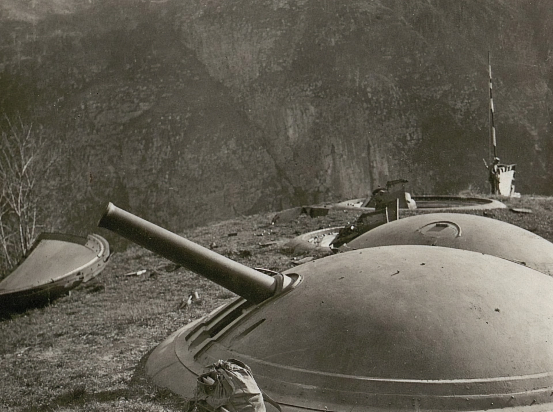 Un canon datant de la dernière guerre