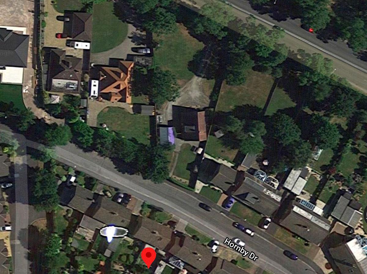 Tiens, un drôle d'éclat a été aperçu dans Google Maps