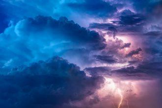 Un orage pris en photo