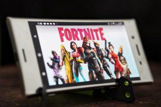 Ecran d'accueil de Fortnite