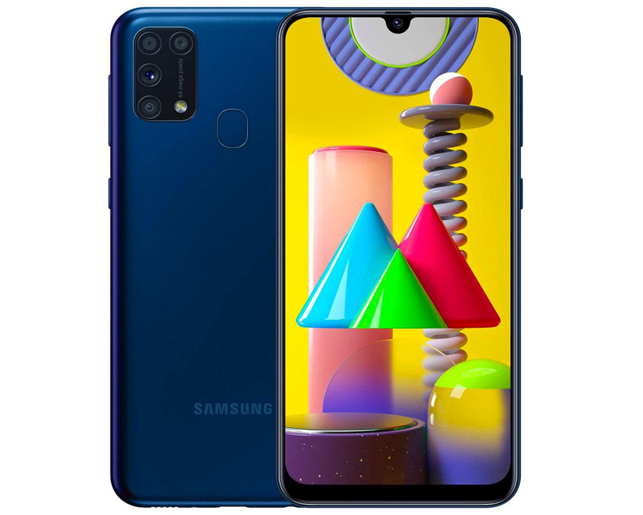 Le Galaxy M31 en version bleue
