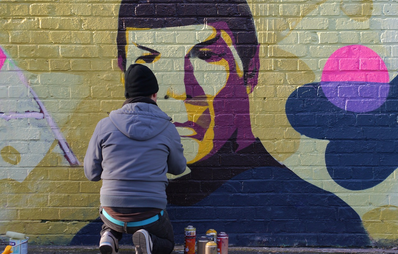 Un graffiti représentant Mr Spock