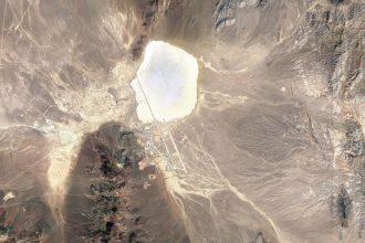 Une vue de Groom Lake, par Google Maps
