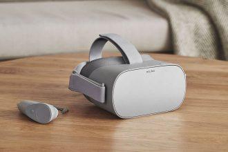 Le casque Oculus Go et son contrôleur