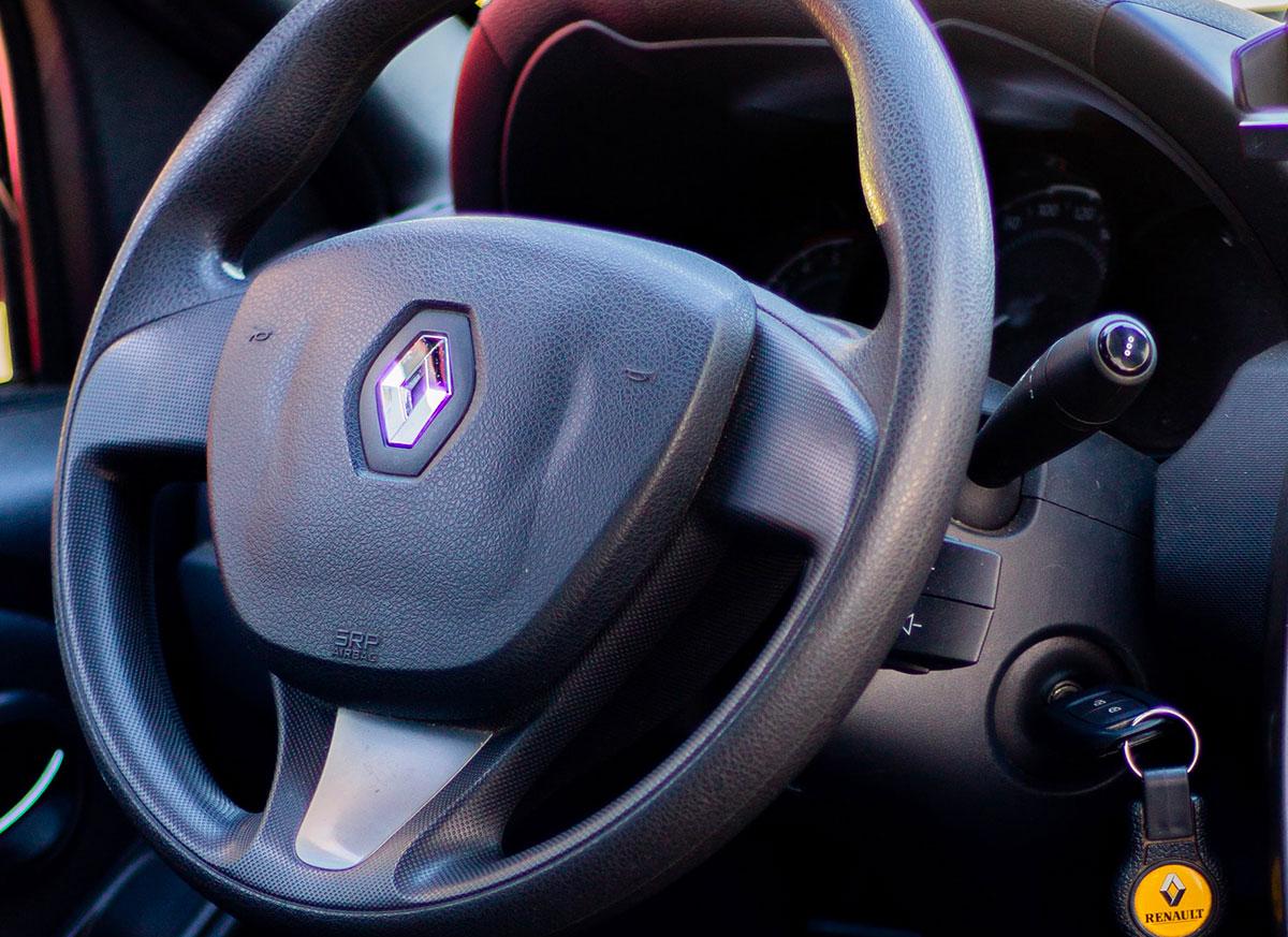Le volant d'une Renault