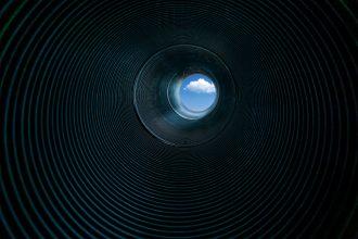La photo d'un tunnel