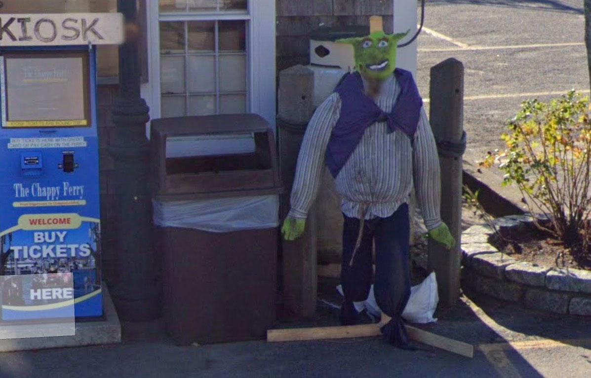 Shrek se planque dans Google Maps