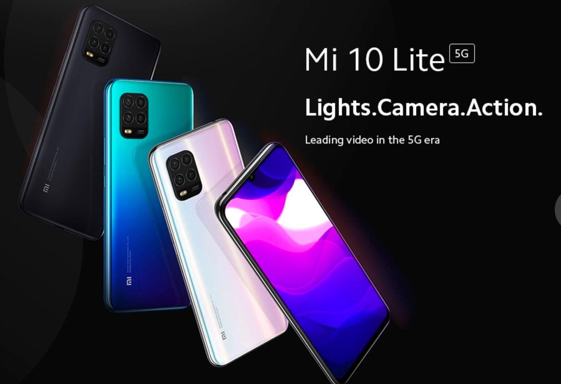 Le Xiaomi Mi 10 Lite et ses différentes couleurs