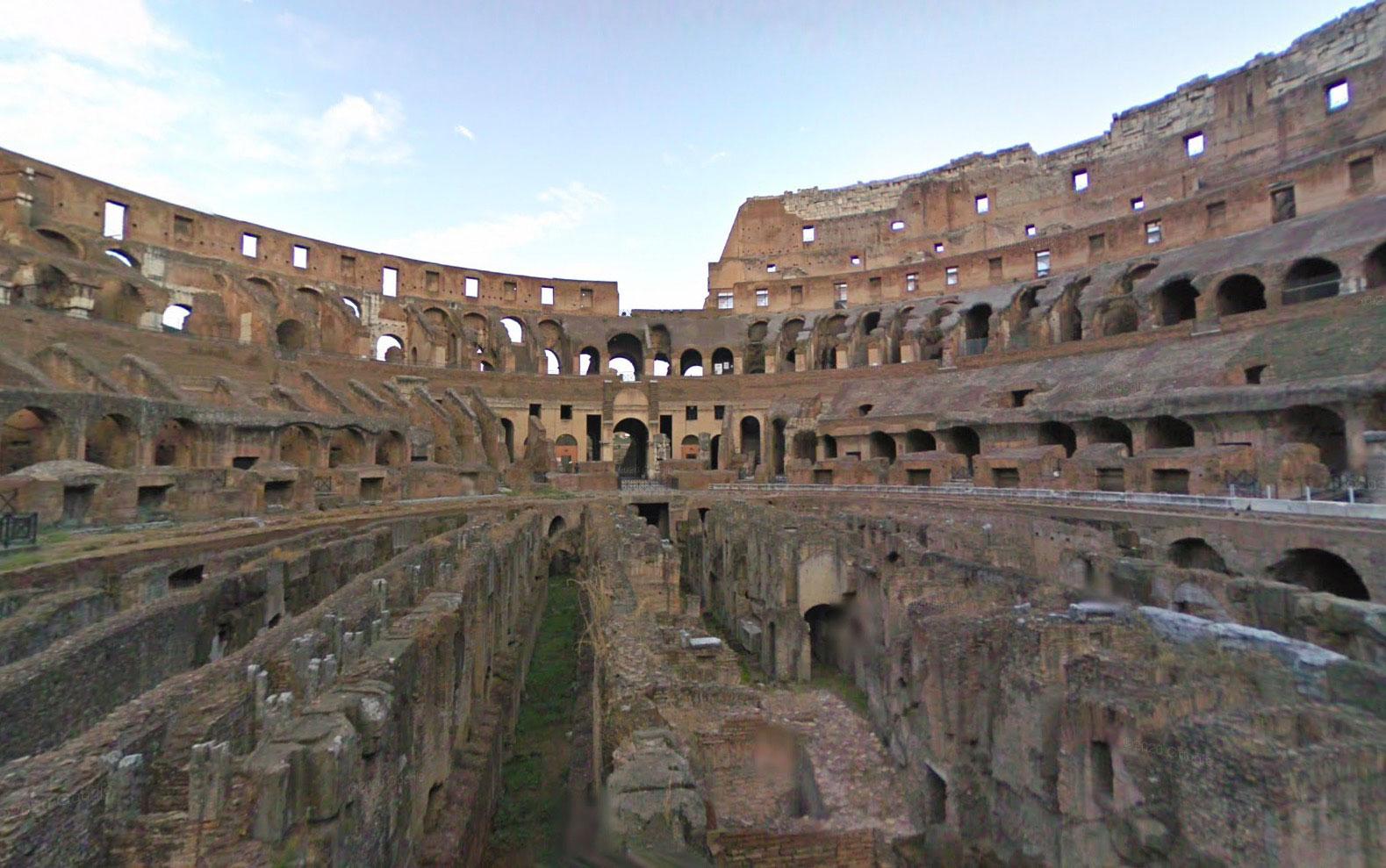 Le Colisée peut être visité dans Google Maps
