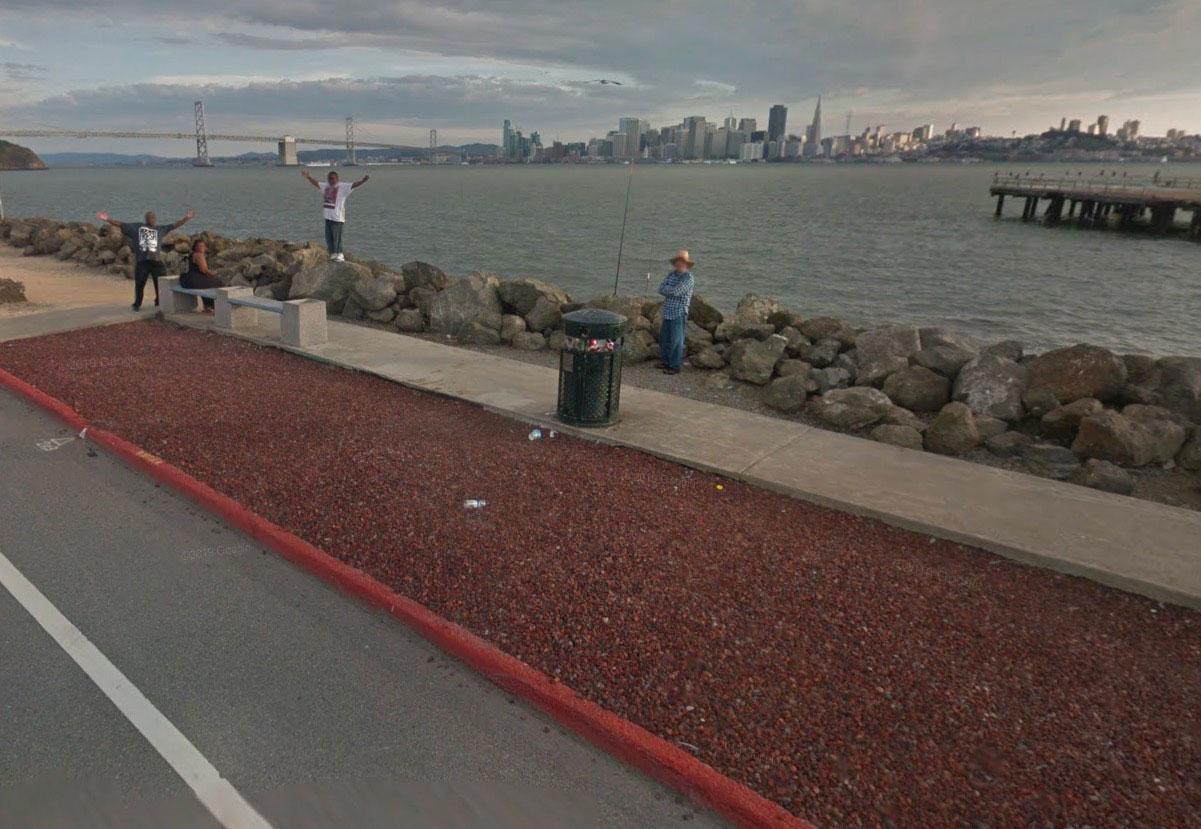 Un accueil plutôt chaleureux pour le chauffeur de la Google Car