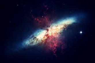 Photo d'une galaxie