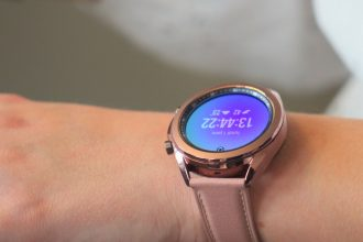 La Galaxy Watch 3 en version bronze