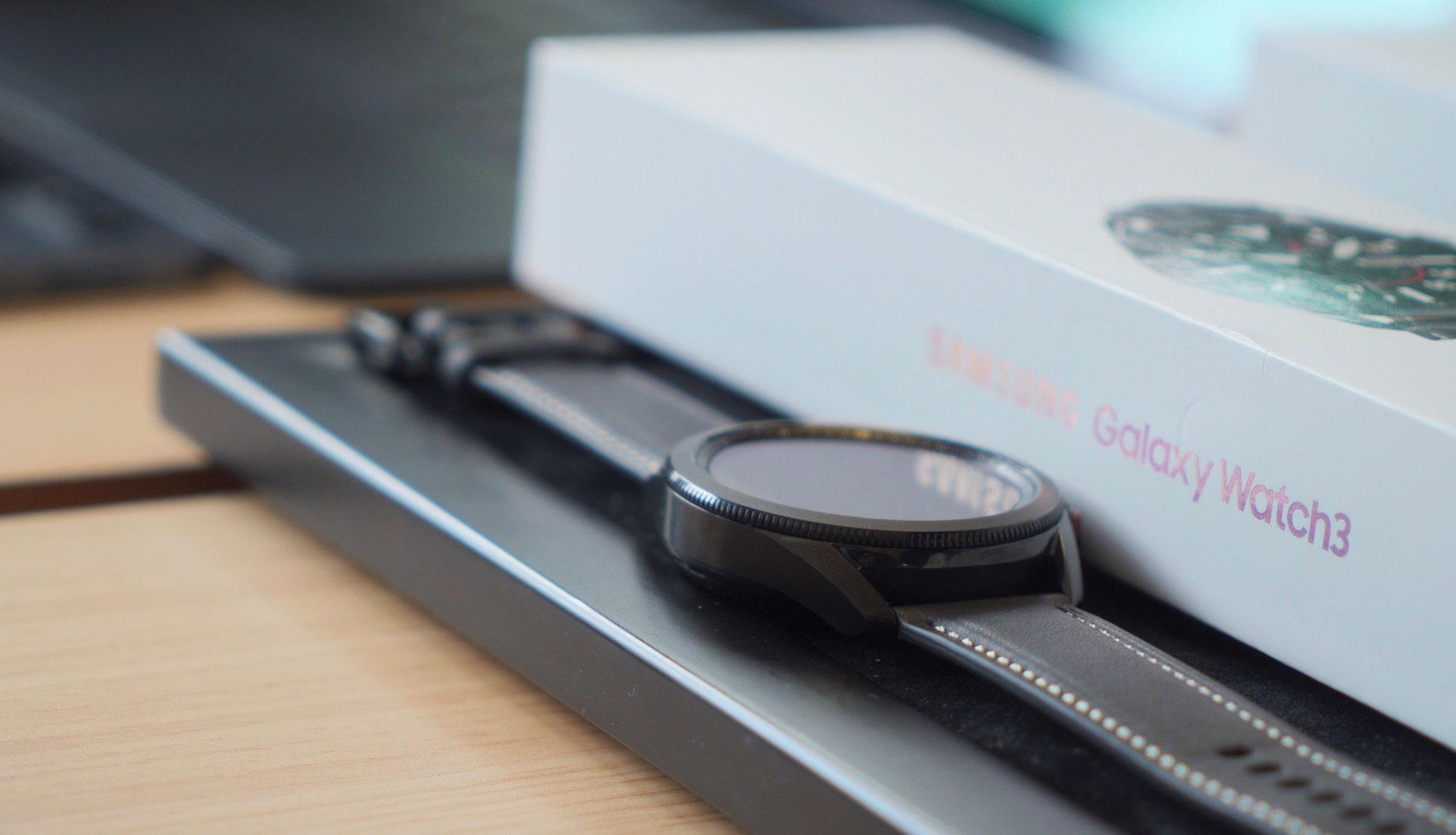 Le modèle noir de la Galaxy Watch 3