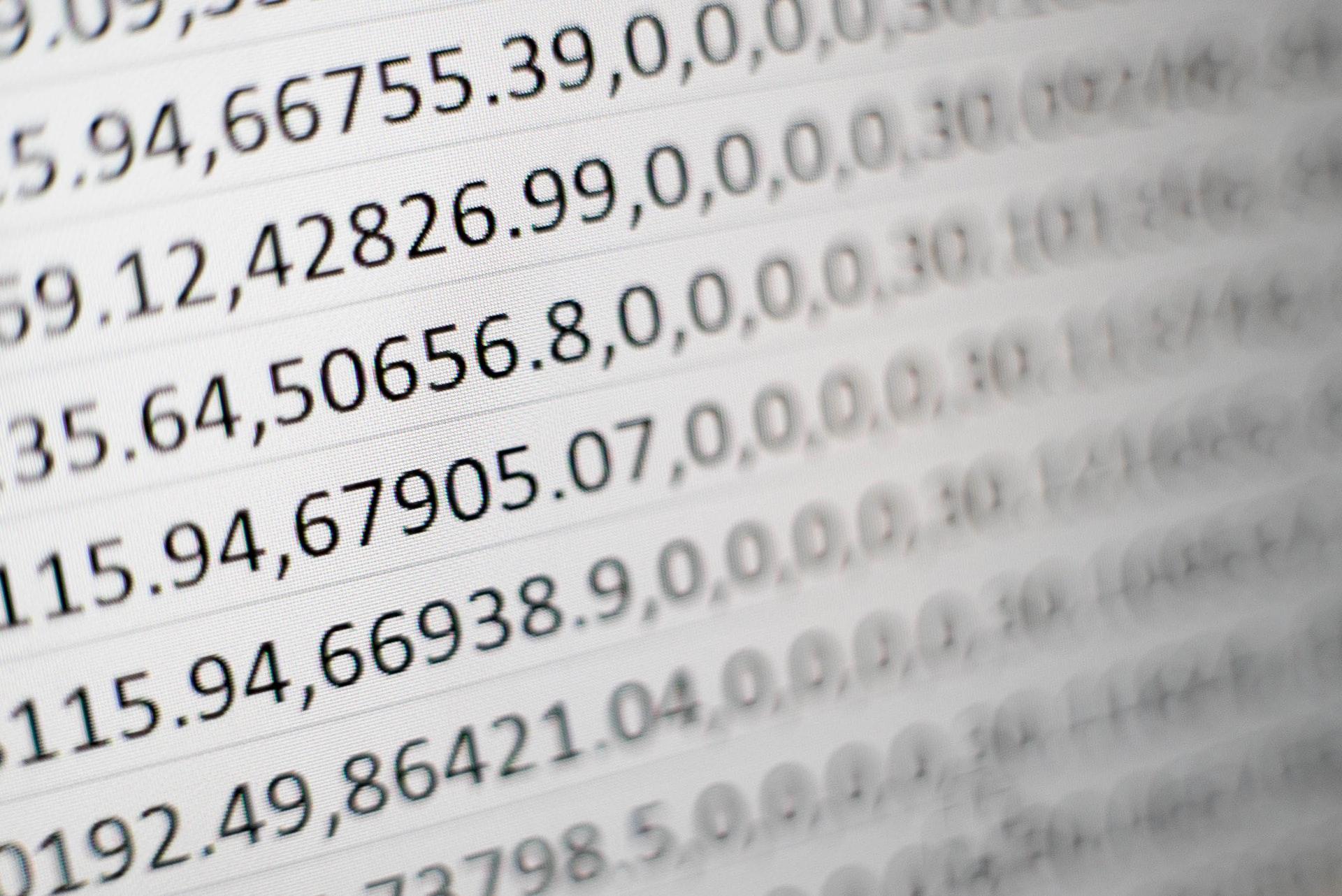 Une feuille de calculs Excel