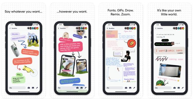 Quelques captures écran de l'interface de Muze