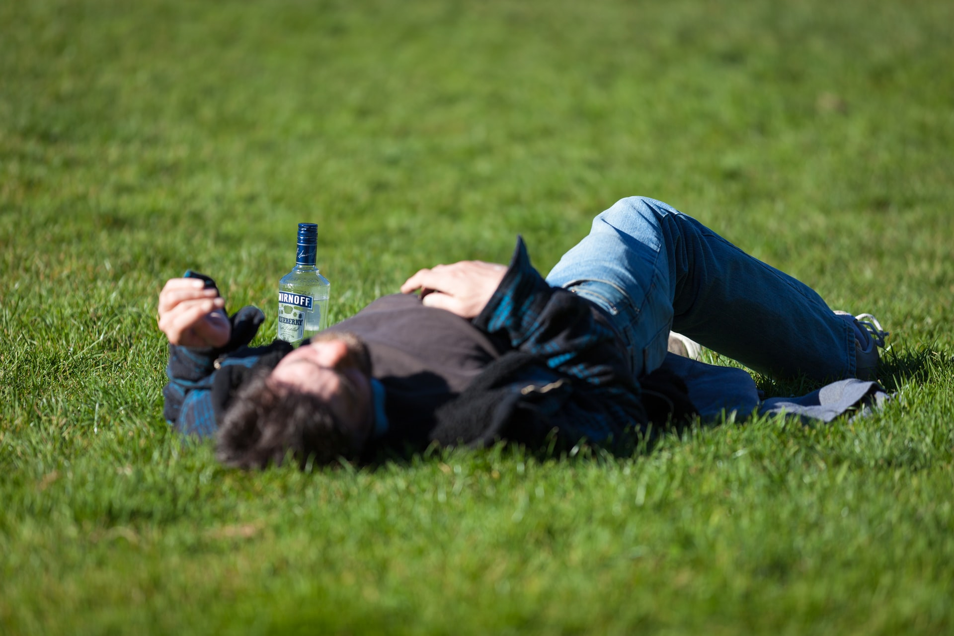 La photo d'un homme ivre