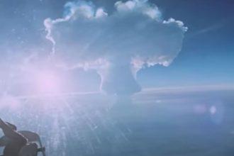 Le champignon nucléaire généré par Tsar Bomba