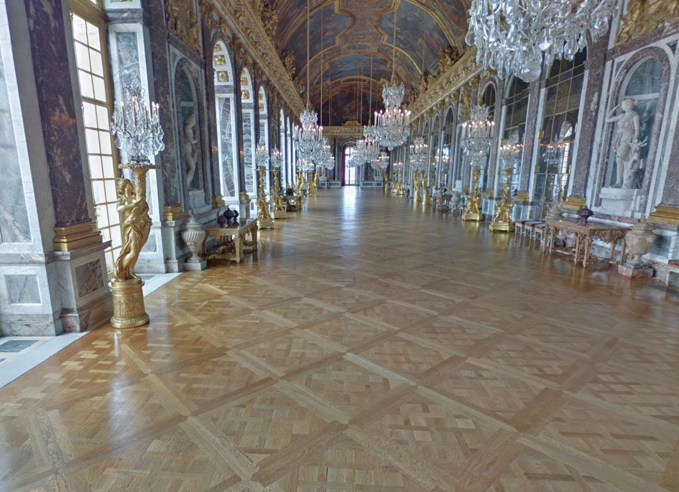 Il est possible de visiter le Palais de Versailles dans Google Maps