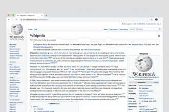 Une capture de Wikipedia