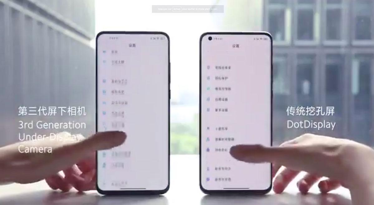 Xiaomi va lancer l'année prochaine un smartphone équipé d'une caméra frontale invisible.