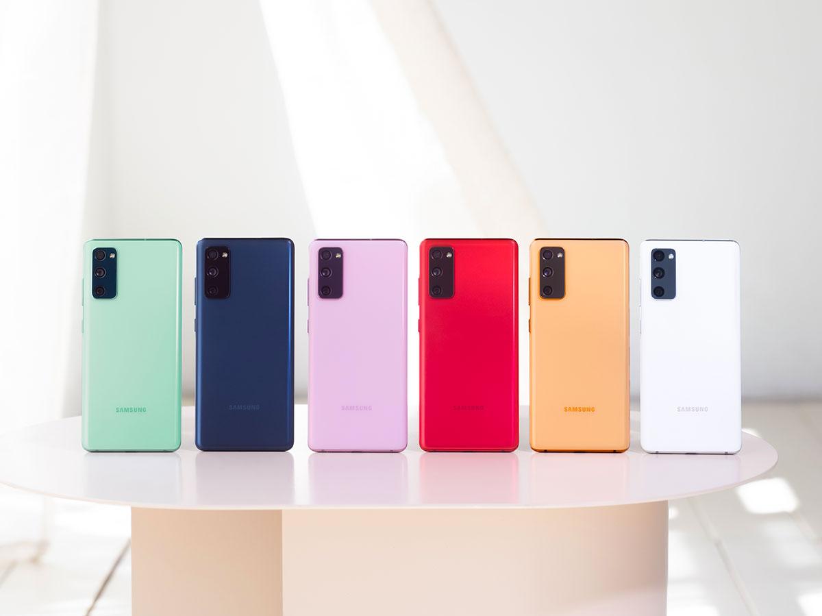 Le Galaxy S20 FE se décline en pas mal de couleurs différentes