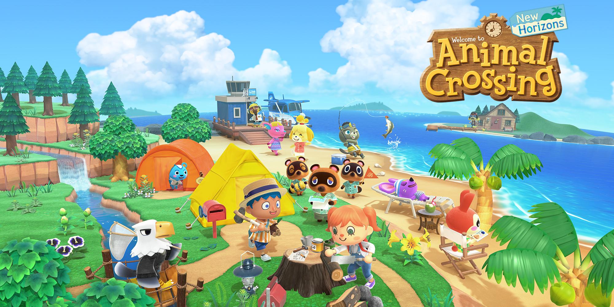 Une affiche dédiée à Animal Crossing Nw Horizons