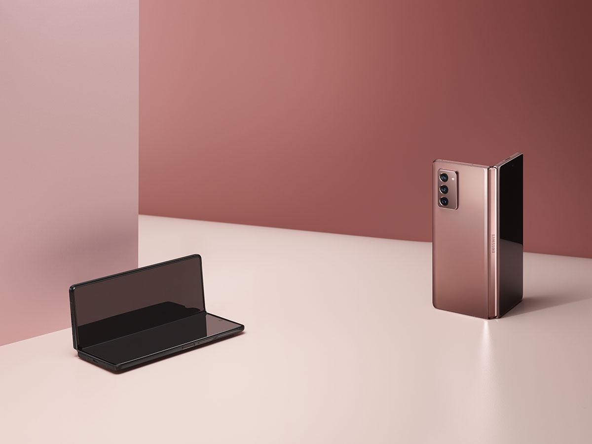 Le Galaxy Z Fold 2 se décline aussi en couleur bronze