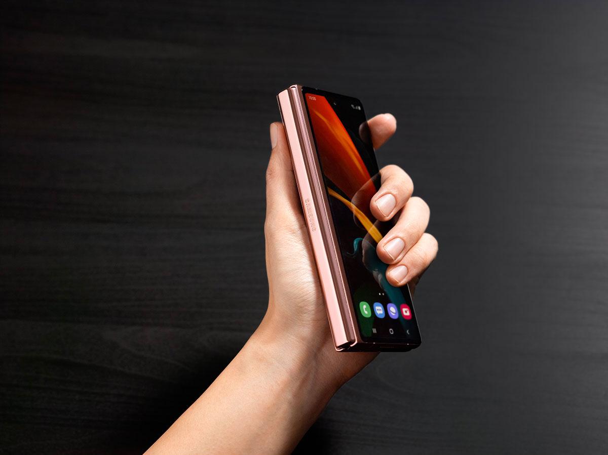 Le Galaxy Z Fold 2 replié
